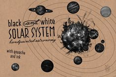 Solar System with gouache and ink by Andrea Tardivo on @creativemarket