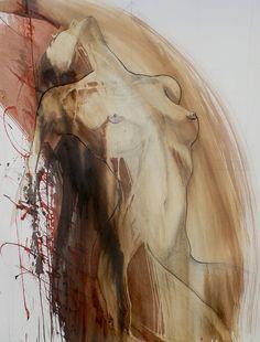 "Saatchi Art Artist: Federico Butler; Ink 2013 Painting ""Despierta (SOLD)"""