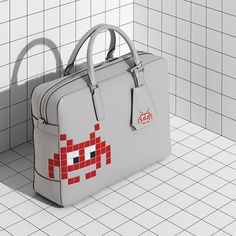 Anya Hindmarch Men's Space Invaders Briefcase