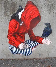 Street Art by Urban Cake Lady Murals Street Art, 3d Street Art, Urban Street Art, Amazing Street Art, Street Art Graffiti, Street Artists, Urban Art, Banksy, Pop Art