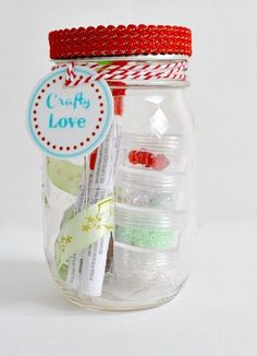 For a Die-Hard Crafter:  Enable a creative friend or family member with supplies to go craft crazy.