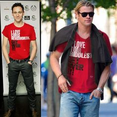 Tom Hiddleston and Chris Hemsworth :D