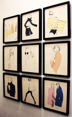Garance Dore 2015 Calendar framed illustrations