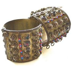 Pre-owned 1960s Bohemian Indian Cuffs