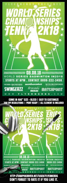 Tennis Flyer Template Pinterest Flyer template, Tennis and Template - tennis flyers templates free