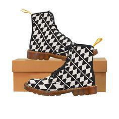 13eb4376756d Women s Martin Boots - Black   White Pattern