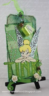 "Lil Red's Craftin'hood: July 2012, love the little ""pixie dust jar"" from Tim Holtz collections..."