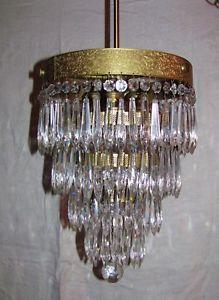 Antique Art Deco Crystal Chandelier 1920 039 S Crystal