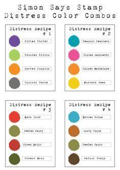 Distress Color Combos   Simon Says Stamp Blog Carte St Valentin, Carterie,  Combinaisons De ada0aedba34c