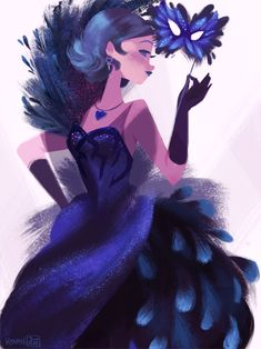 "abbydraws:  Dark Mercury Masquerade The 2nd opening of the ""Moon..."