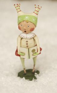 Super sweet caroler by Lori Mitchell! Would love the trio (they remind me of my kiddos)