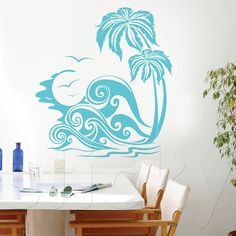 Wall Sticker SUMMER WAVES by Sticky!!! Summer Waves, City Life, Wall Sticker, Ink, Home Decor, Decoration Home, Room Decor, Ink Art, Interior Decorating
