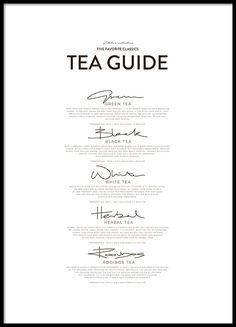 Five Tea Classics, julisteet ryhmässä Julisteet @ Desenio AB (8557)