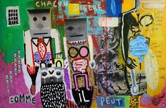 CHACUN DIGÈRE COMME IL PEUT- acrylic and collage on wood / 2015