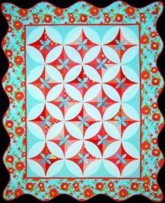 """Melon Slices"" by Happy Stash Quilts. Pattern includes directions for table runner, wall hanging or throw, twin, and queen size quilts."