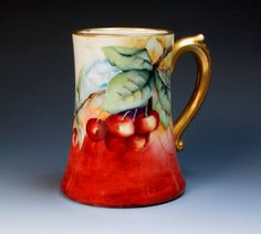 Hey, I found this really awesome Etsy listing at https://www.etsy.com/listing/211136420/antique-signed-hand-painted-limoges-mug