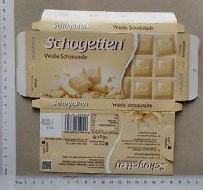 Schokolade Papier Verpackung Etikett - chocolate wrapper Schogetten