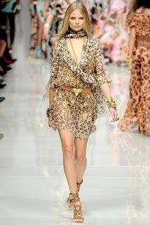 1896f0f478 Blumarine Spring spring Ready-To-Wear Animal Print Dress