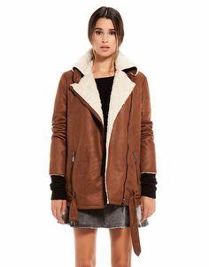 Bershka Philippines - Bershka belted coat