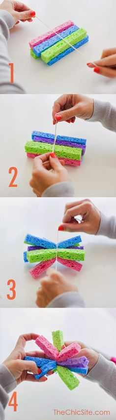 diy crafts: Make Your Own Sponge Water Bombs