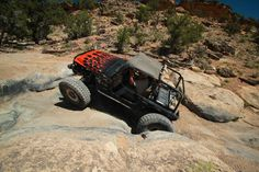 Rock crawling in a Jeep on the 2013 Rock Junction trails.