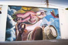 Great work by @mistertrazo #globalstreetart #spain #wine #abstract #painting http://globalstreetart.com/mr-trazo
