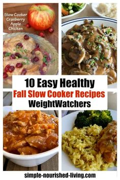 Fall is the perfect time of year for pulling out your crockpot! Here are 10 easy healthy slow cooker recipes perfect for fall, all family friendly Slow Cooker Chicken Marsala, Slow Cooker Chicken Healthy, Crock Pot Slow Cooker, Slow Cooker Recipes, Crockpot Recipes, Chicken Recipes, Cooking Recipes, Low Calorie Recipes, Healthy Recipes