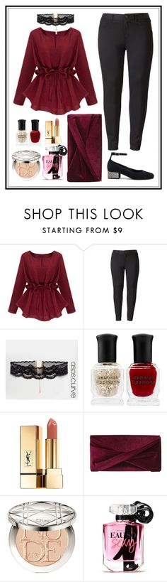 """Size Plus Outfit"" by zahratsa on Polyvore featuring Simply Vera, ASOS Curve, Deborah Lippmann, Yves Saint Laurent, Reiss, Christian Dior, Victoria's Secret and plus size clothing"