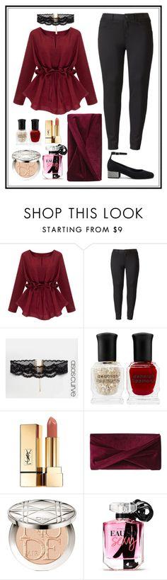 """Size Plus Outfit"" by zahratsa on Polyvore featuring Simply Vera, ASOS Curve, Deborah Lippmann, Yves Saint Laurent, Reiss, Christian Dior, Victoria's Secret and plus size clothing"