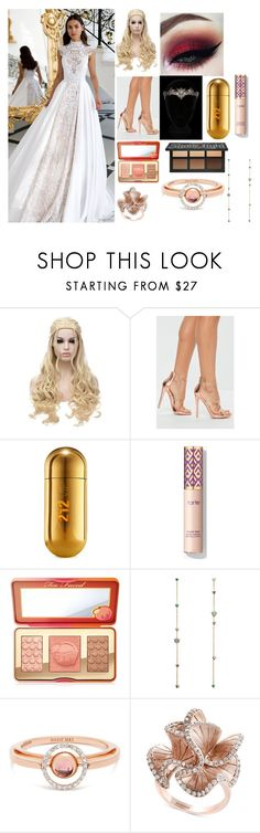 """""""Untitled #237"""" by abzeezlove on Polyvore featuring Missguided, Carolina Herrera, Too Faced Cosmetics, Marie Mas and Effy Jewelry"""