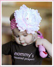 "Baby Headbands :: Christian Clothing   Christian Shirts   Christian Apparel by Faith Baby - Faith Baby Christian Apparel ""Amelia"""