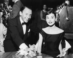 Frank Sinatra and Audrey Hepburn, 1956 - The two best people in whole the business TOGETHER!
