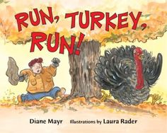 """From Jacqueline Bodnar's review on Vegbooks: """"This is a fun book that gives kids a chance to root for the turkey as he continues running away from the farmer."""""""