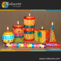 hand-painted & handcrafted candles | manufactured by Nobunto from Napier in South Africa