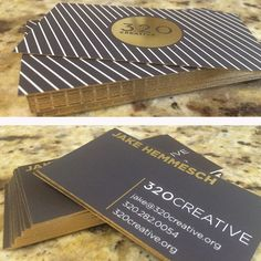 Just got my new business cards in and they are 🔥🔥🔥🔥🔥 Gold foil with gold trim! // Check us out at 320creative.org