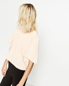 CROPPED TOP WITH PLEAT DETAIL - Available in more colours