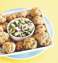 Great salad and easy meatballs!