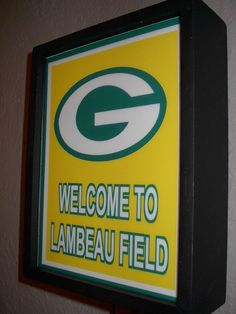 Green Bay Packers Football Stadium Throwback Bar Advertising Lighted Man Cave Sign