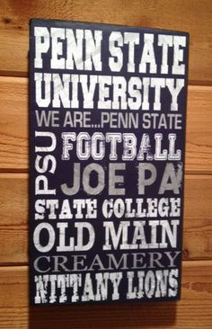 Penn State football Reclaimed Distressed Wood Sign by SignNiche, $38.00