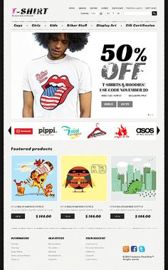 Put you #T-shirt designs & patterns on the web and make money doing it. Don't let your ideas go to waste. This online store theme will help tremendously! (42502). $140