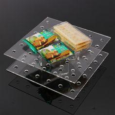 Aliexpress.com: Comprar Claro plaza Crystal acrílico 2 Tier soporte de la torta de la placa giratoria de cumpleaños fiesta magdalena titular 18 cm de Tocadiscos fiable proveedores en Tmac Ltd. CO