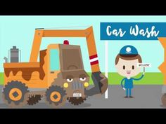 Construction Machines at the Car Wash. Transportation music video for kids! Rhyming Activities, Preschool Activities, Preschool Learning, Kindergarten Classroom, Teaching, Construction For Kids, Construction Machines, Songs For Toddlers, Kids Songs