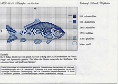 ru / Photo # 22 - Various schemes of embroideries from the Internet - poodel Mini Cross Stitch, Cross Stitch Animals, Cross Stitch Charts, Cross Stitch Patterns, Fish Patterns, Beading Patterns, Embroidery Patterns, Cross Stitching, Cross Stitch Embroidery