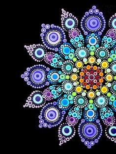 """From """"A Year of Stone Painting: 52 Mandala Designs to Inspire Your Spirit"""" book. Rock Painting Patterns, Dot Art Painting, Rock Painting Designs, Stone Painting, Mandala Canvas, Mandala Artwork, Mandala Painting, Mandala Stencils, Watercolor Mandala"""