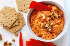 Roasted peppers and earthy walnuts make this vibrant, flavour-packed dip the ultimate snack. | Tesco