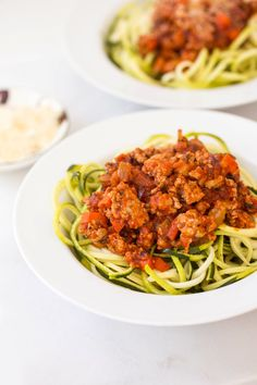Turkey Bolognese with Zucchini Noodles