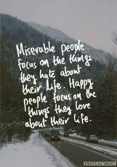 Happy people.