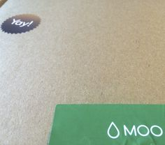 Just got our #green #businesscards - moo.com.