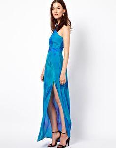 Warehouse Abstract Print Maxi Dress