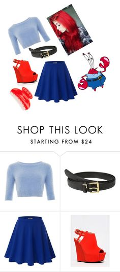 """Mr krabs inspired"" by babygurlap ❤ liked on Polyvore featuring Lauren Ralph Lauren, Doublju, Qupid, France Luxe, women's clothing, women's fashion, women, female, woman and misses"